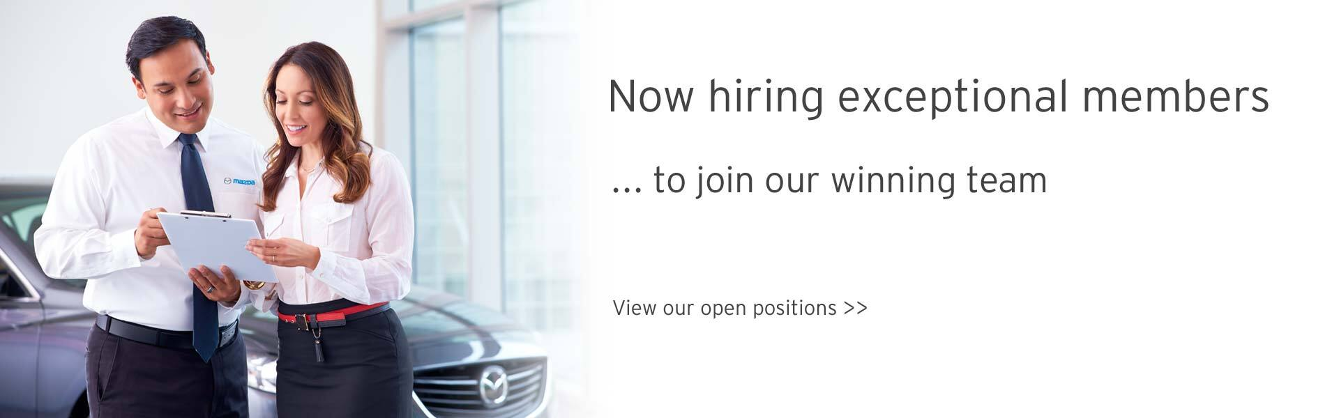 Jobs at Mazda of Mesquite - join our winning team