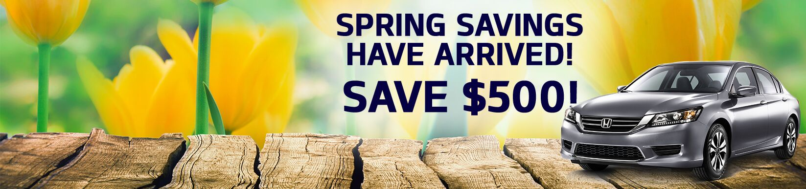 $500 off Spring Inventory