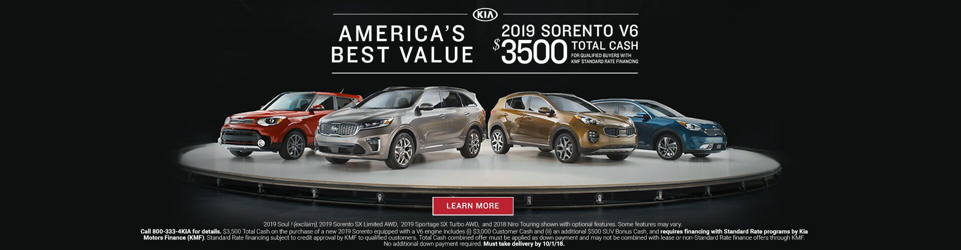 America's Best Value 2019 Sorento Value Kia