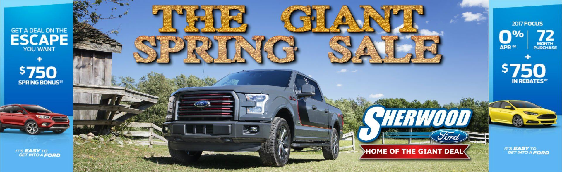 Sherwood Ford THE GIANT SPRING SALE