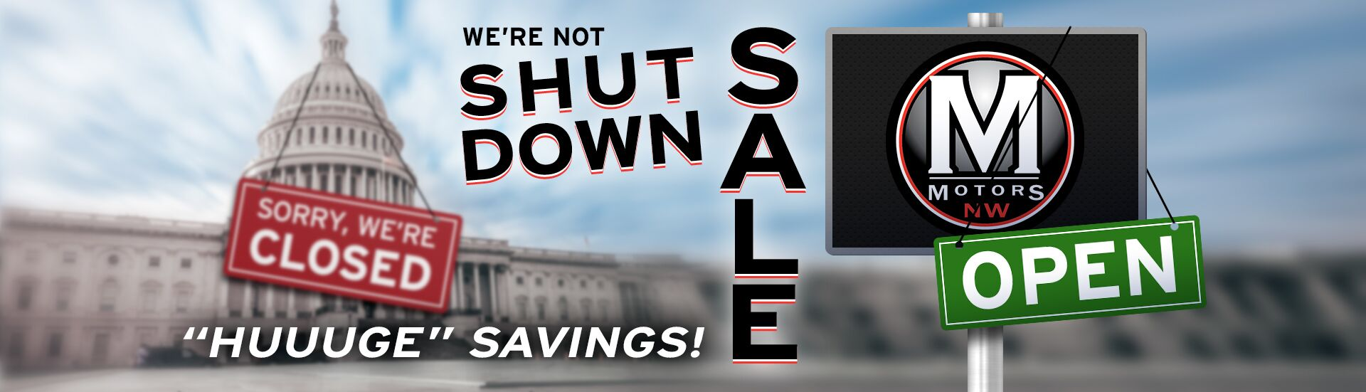 Shut Down not Sale