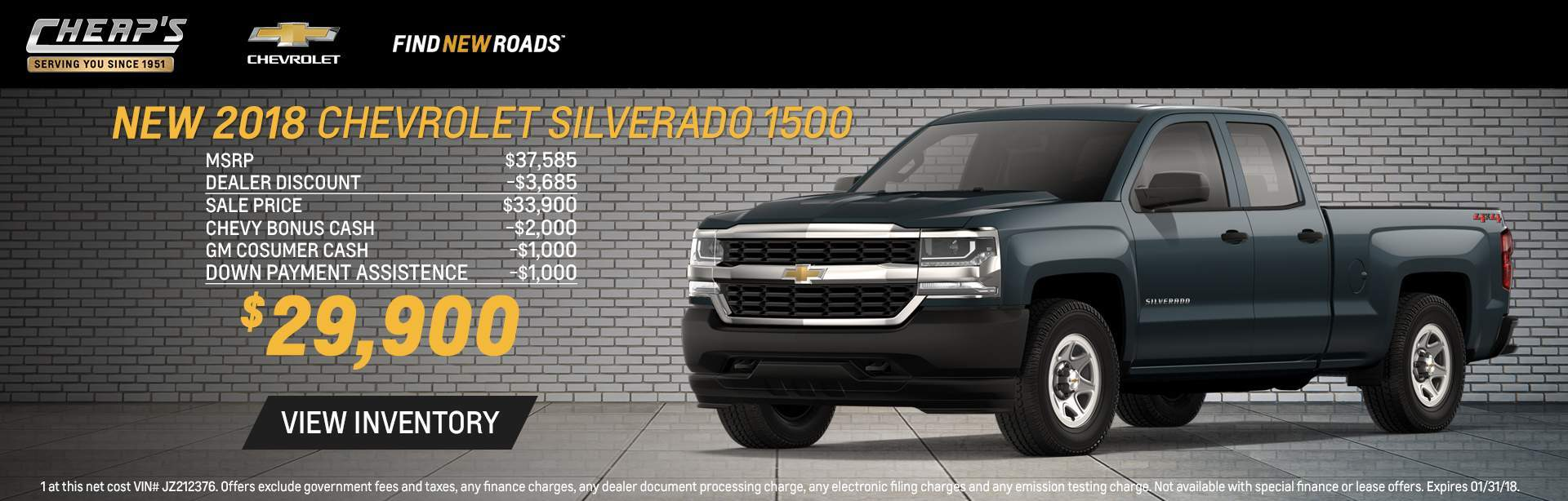 2018 Chevrolet Silverado 1500 of Cheap's Chevrolet