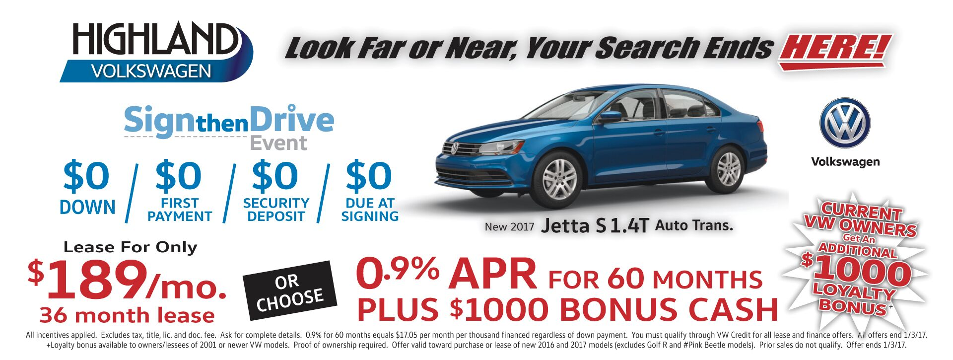 Jetta Sign Then Drive