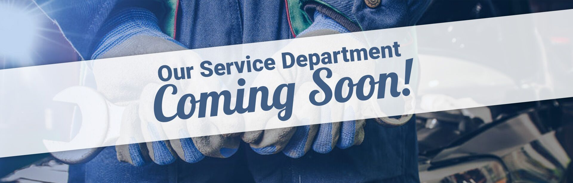 Service Department Coming Soon