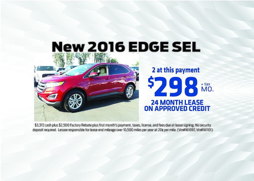 NEW 2016 Edge Special
