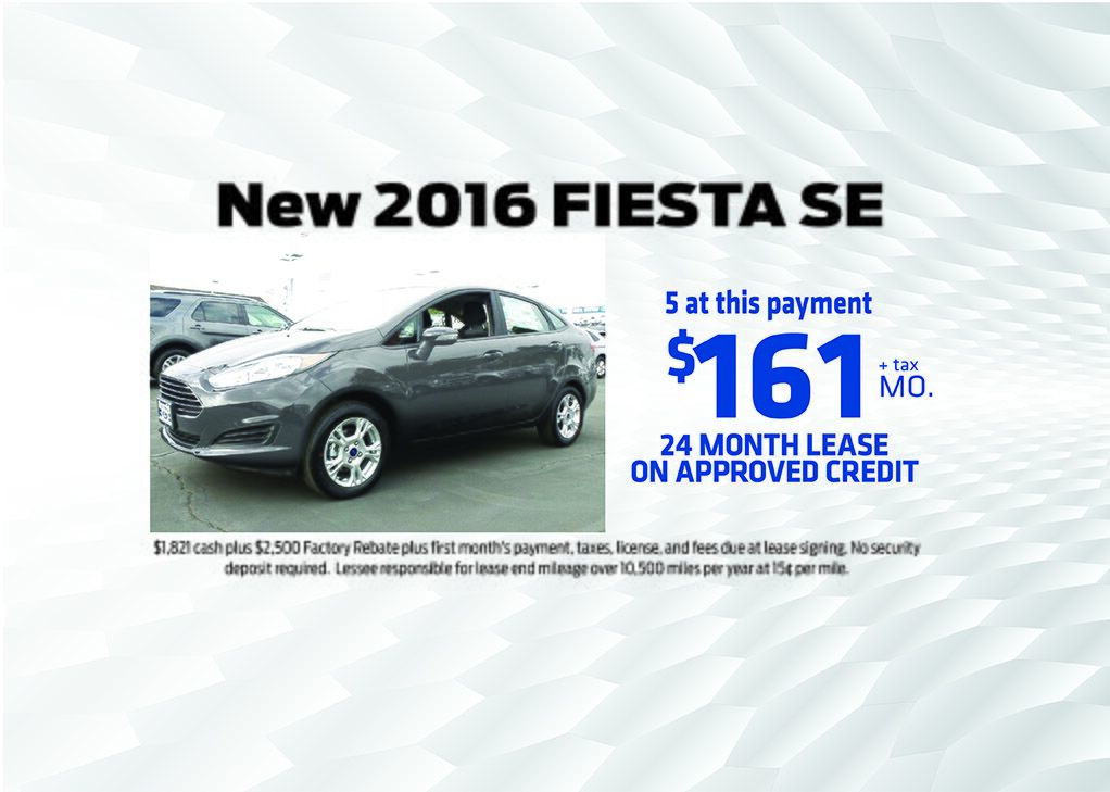 NEW 2016 Fiesta Special