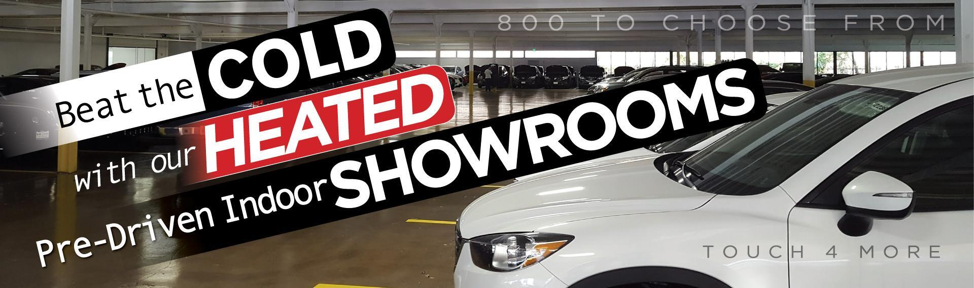 800 Pre-Owned Cars Indoors!