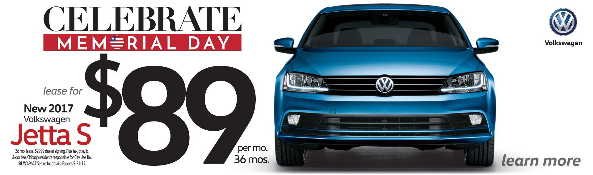 Memorial Day Savings All Month Long On VW Jetta