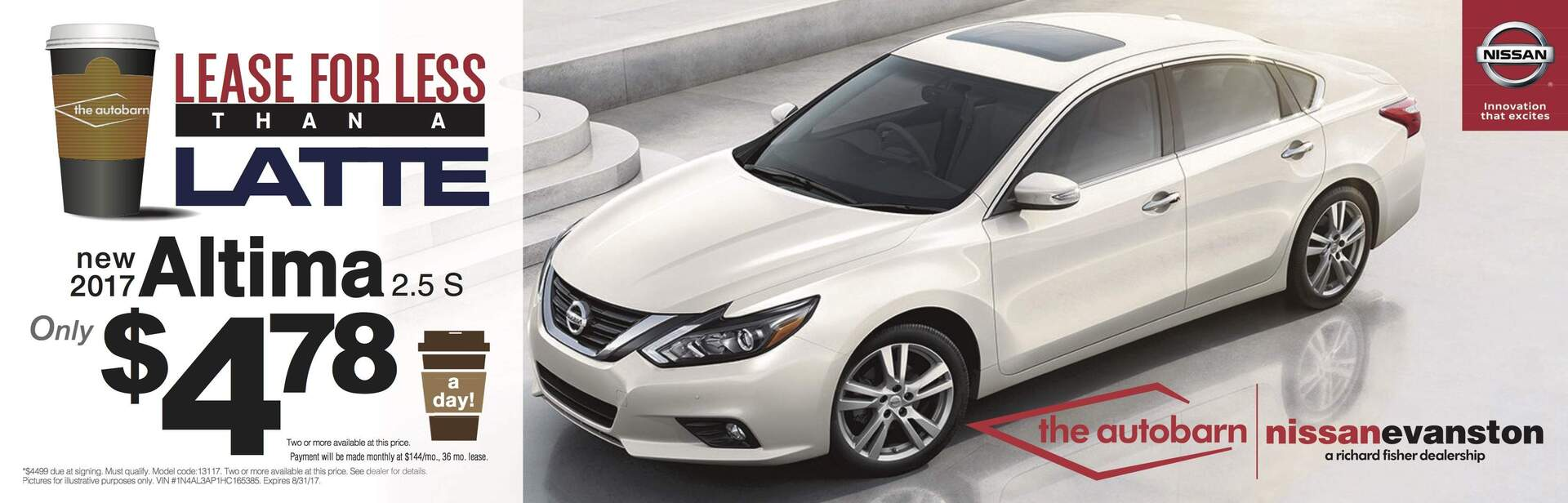 Autobarn Nissan Altima August Lease