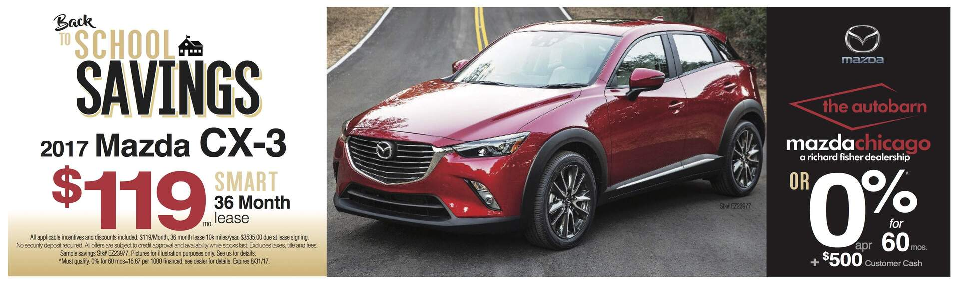2017 Mazda CX-3 Lease August City Chicago Mazda