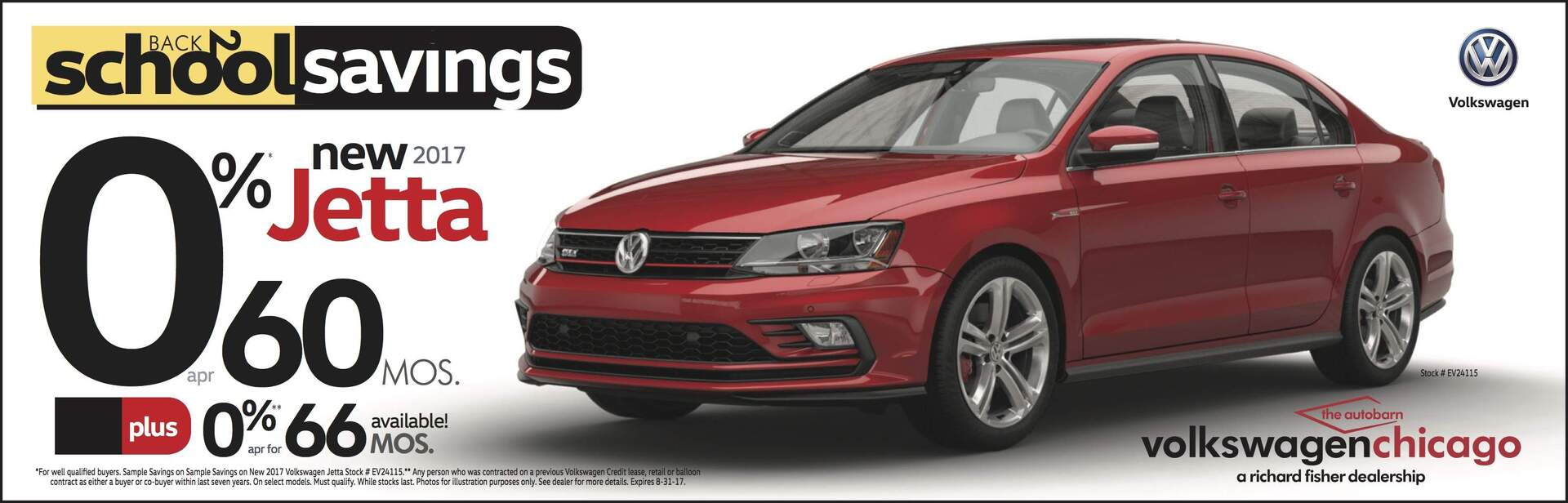 Autobarn City VW Jetta 0% APR for 60 months August