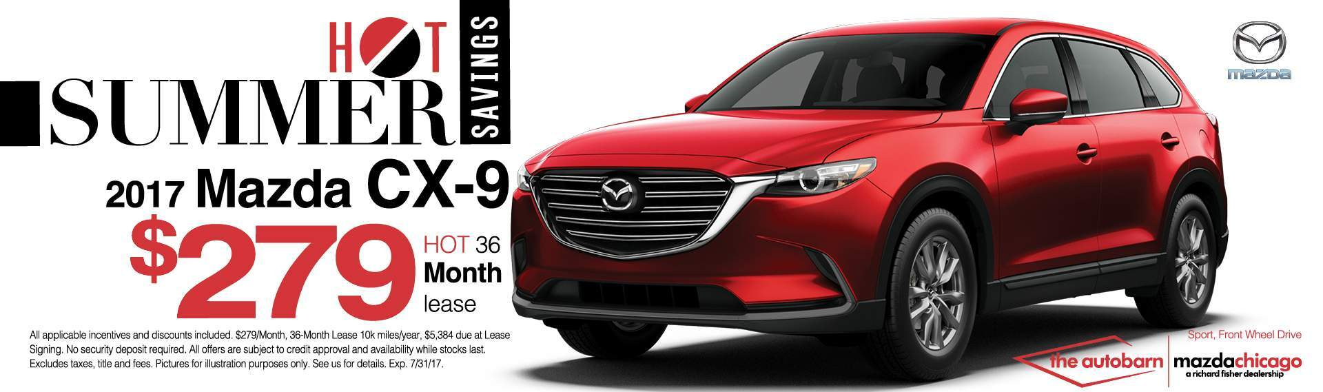 Autobarn City Mazda CX-9 July lease