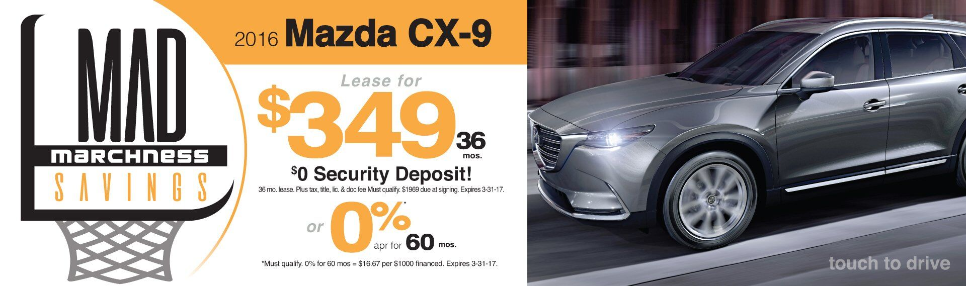 Mad Marchness Mazda CX-9 Specials