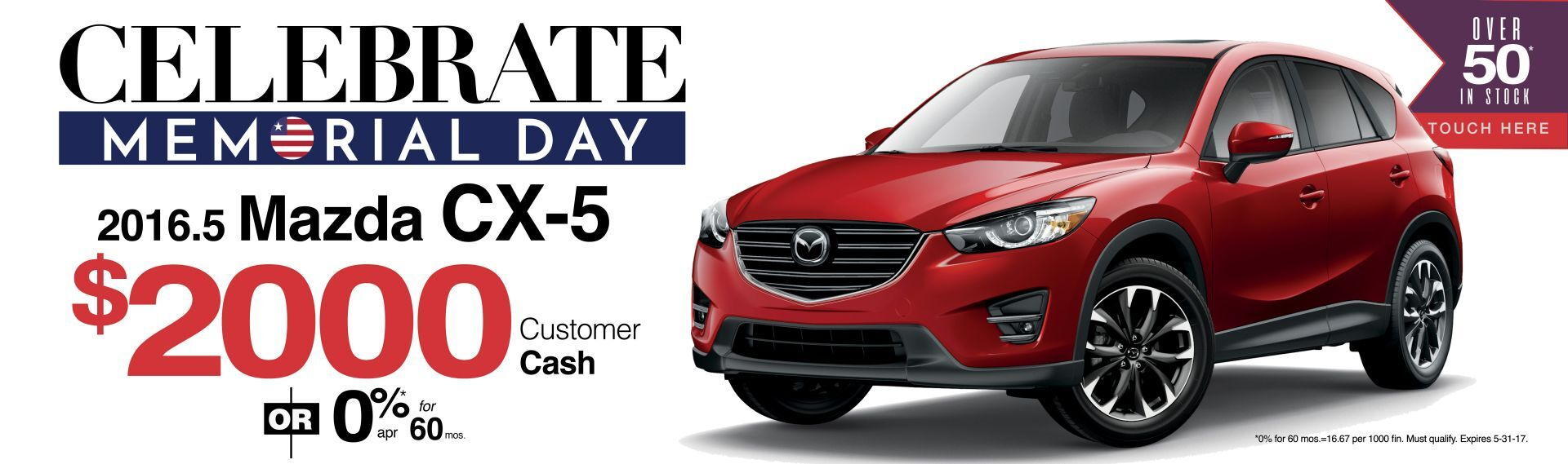Save $2000 On a 2016.5 Mazda CX-5