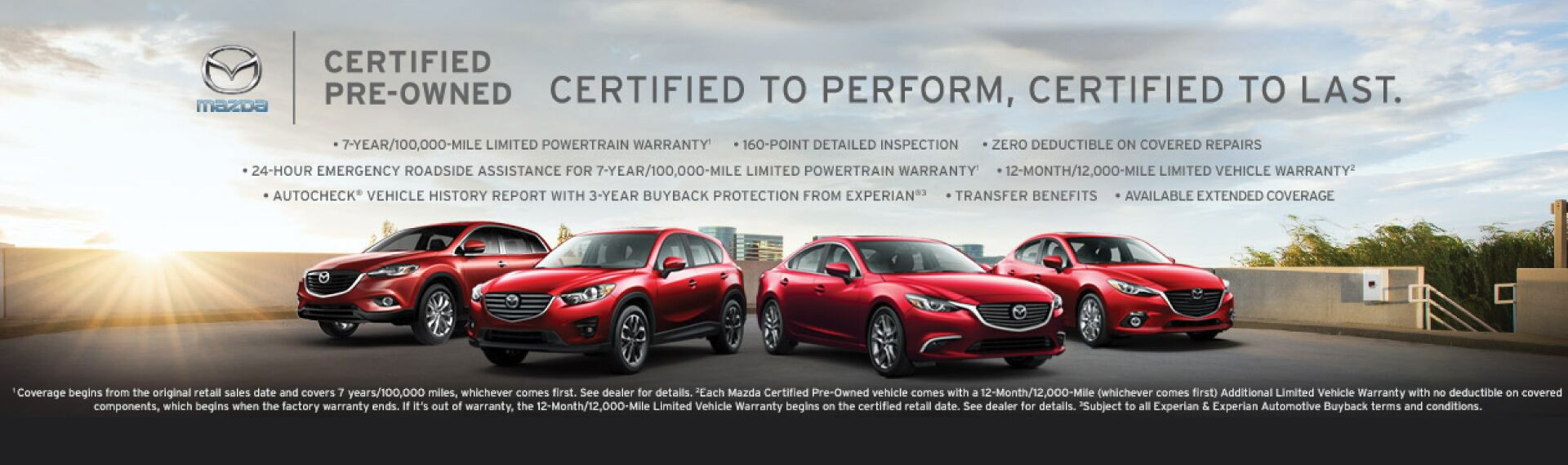 MAzda Certified Pre-Onwed Vehicles