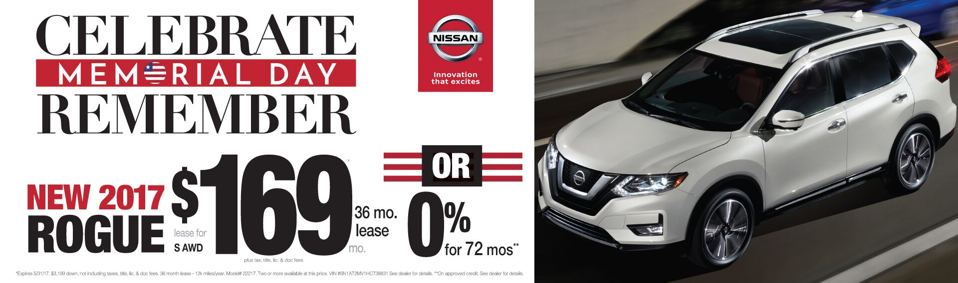 Memorial Day Savings On Nissan Rogue