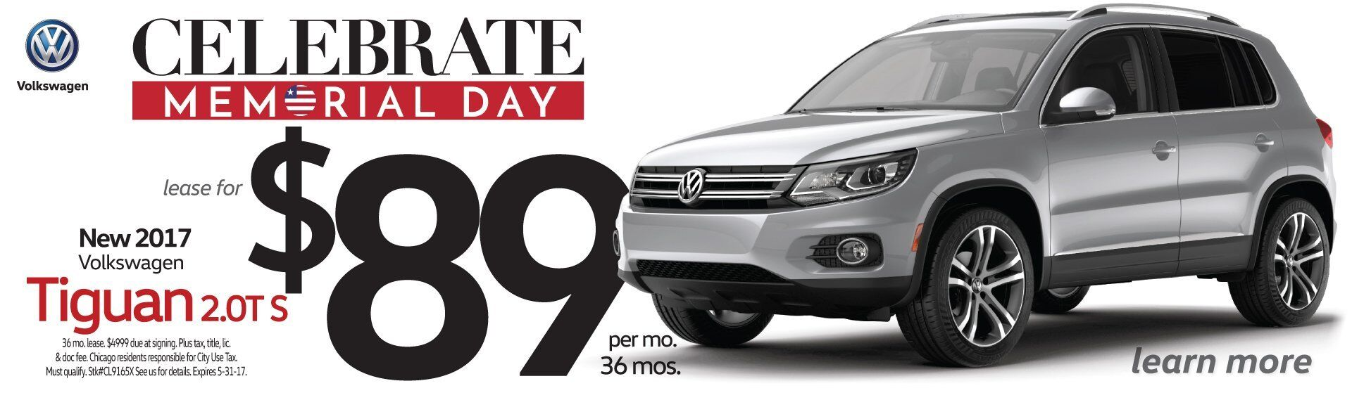 Memorial Day Savings All Month Long On VW Tiguan