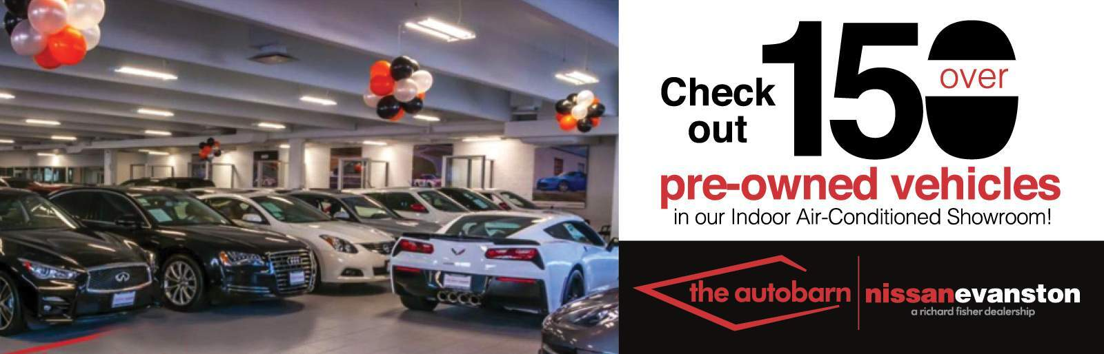 Indoor pre-owned showroom
