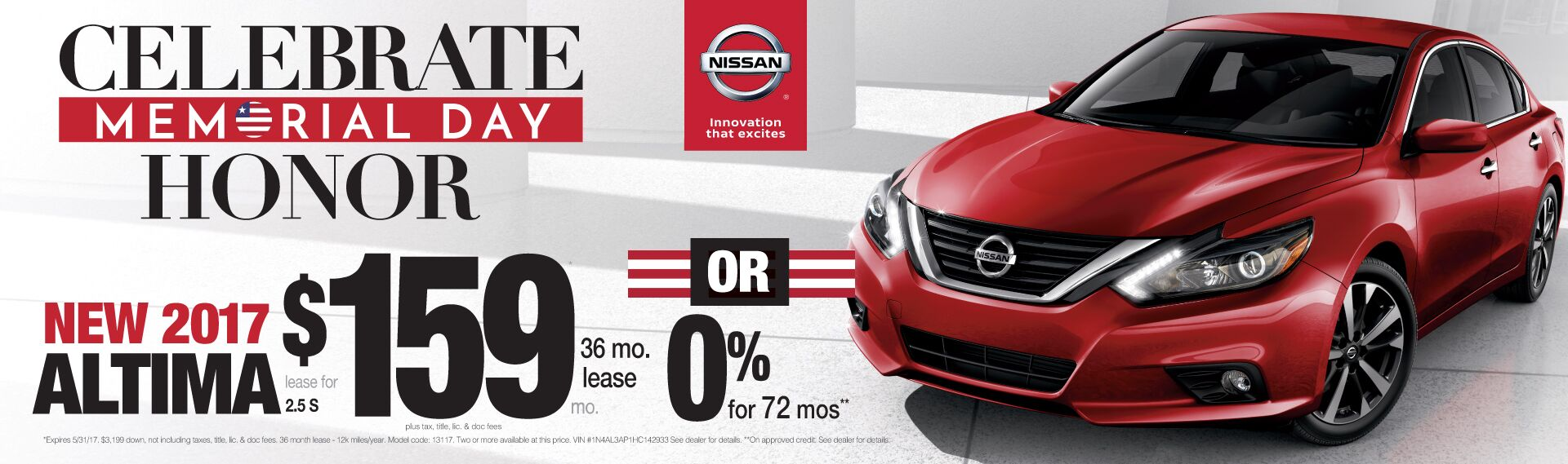 Celebrate Memorial Day With Savings On An Altima