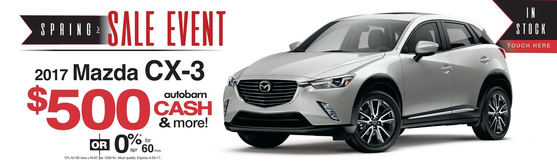 Spring Sales Event on 2017 Mazda CX-3