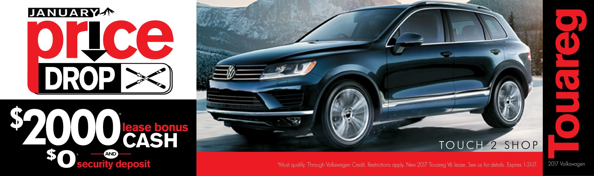 Touareg January Price Drop