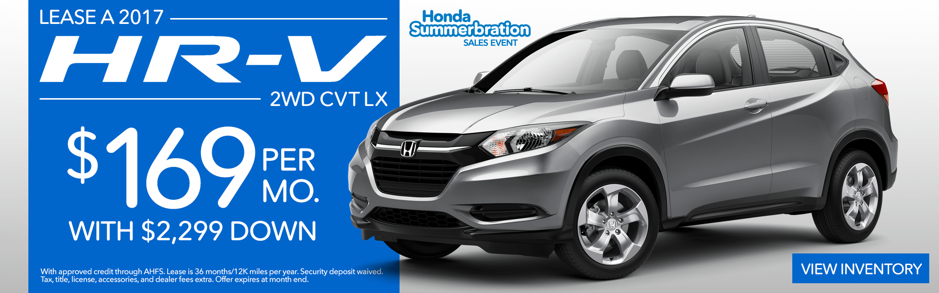 2017 Honda HR-V Lease