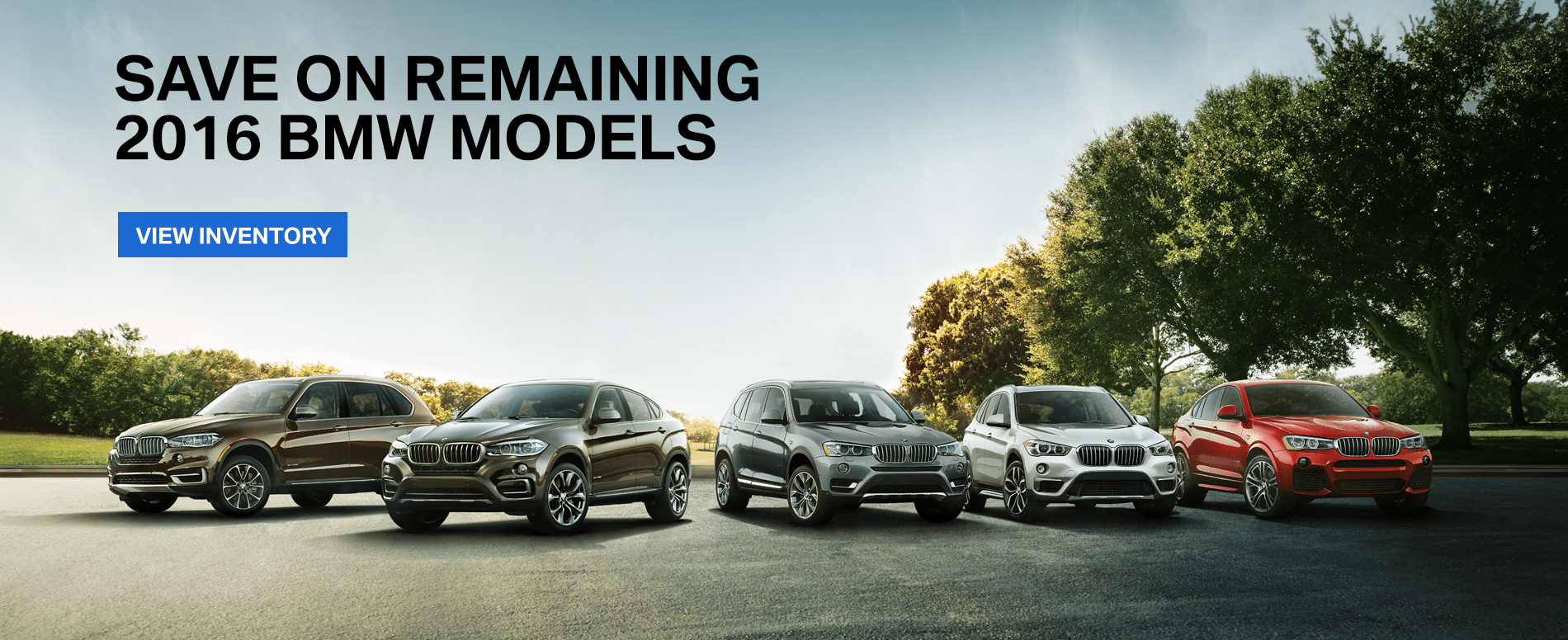 Save on remaining 2016 BMW models