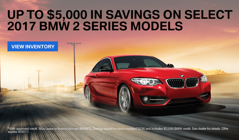 Save up to $5,000 on 2017 BMW 2 Series Lexington KY
