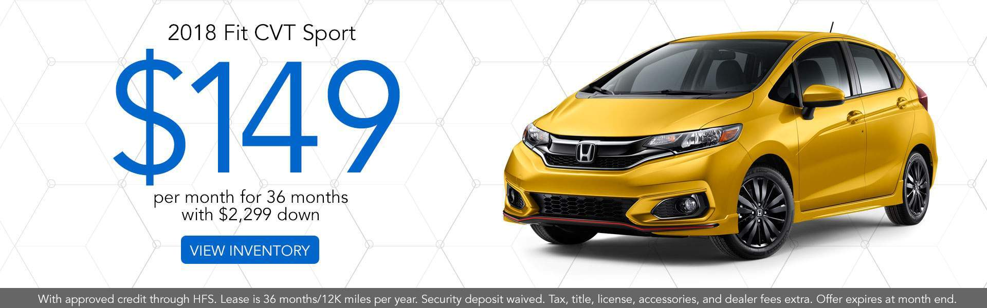 2018 Honda Fit Lease