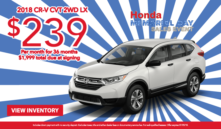 CR-V Lease May 2018