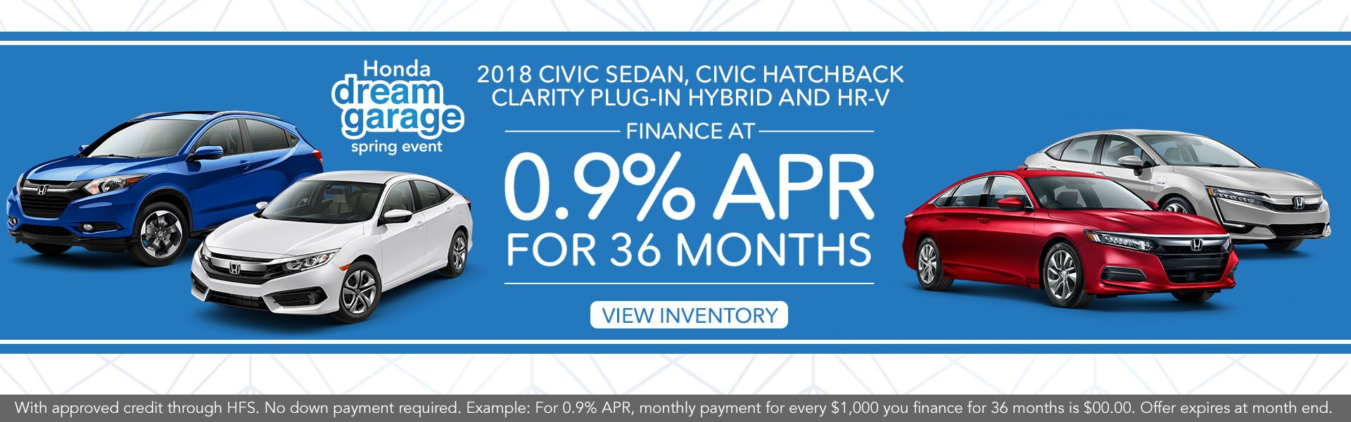 APR HR-V, Civic SDN, Civic Hatchback, Clarity Hybrid