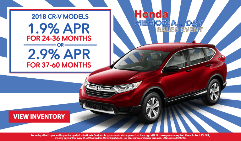 CR-V APR May 2018