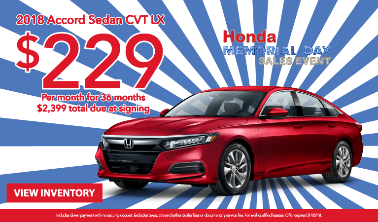 Accord Lease May 2018