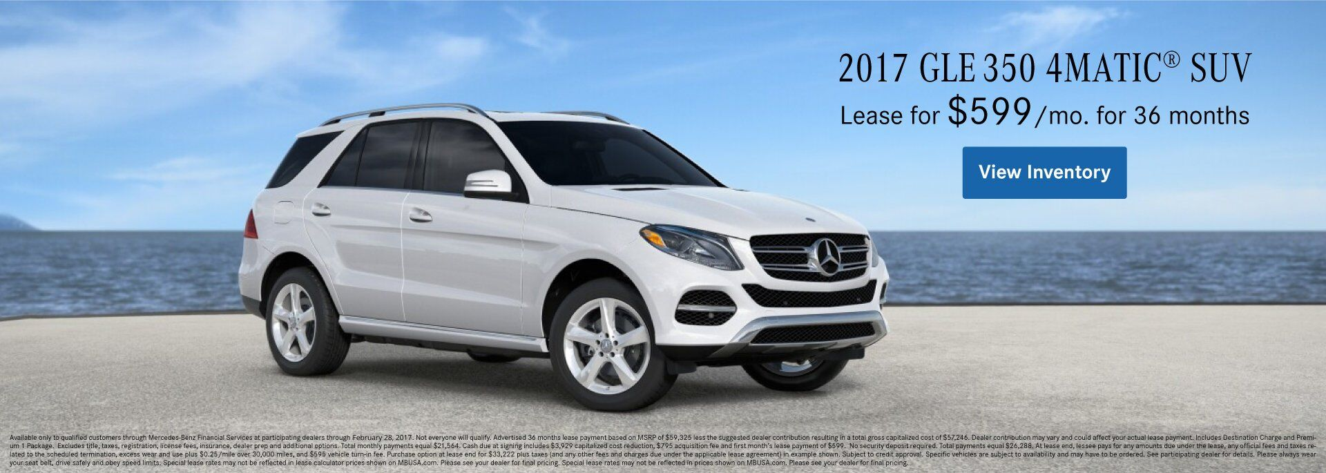 2017 GLE350 4MATIC® SUV Lease Offer