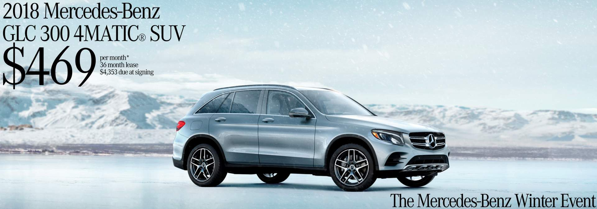 2018 GLC 300 4MATIC® Winter Event Lease Offer