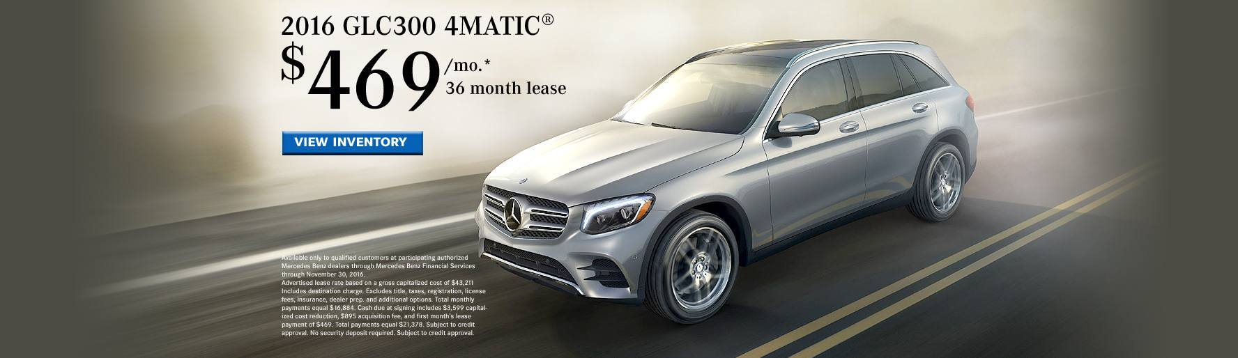 2016 GLC300 Lease Special