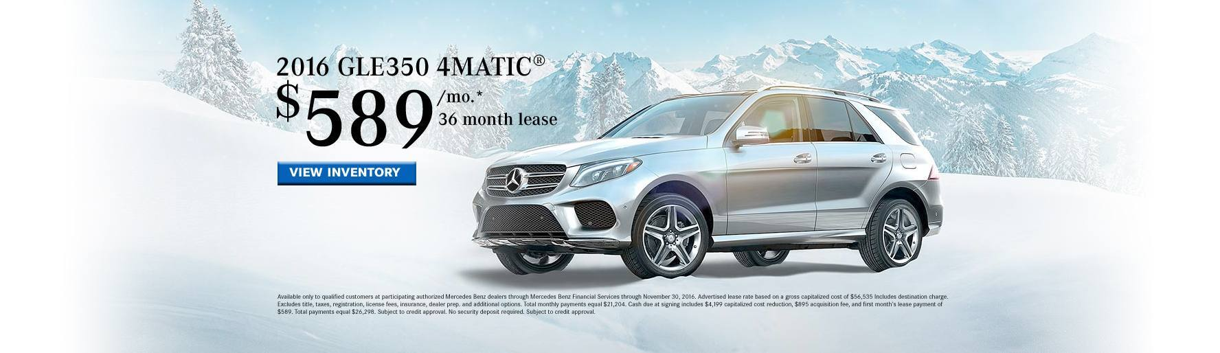 2016 GLE350 Lease Special