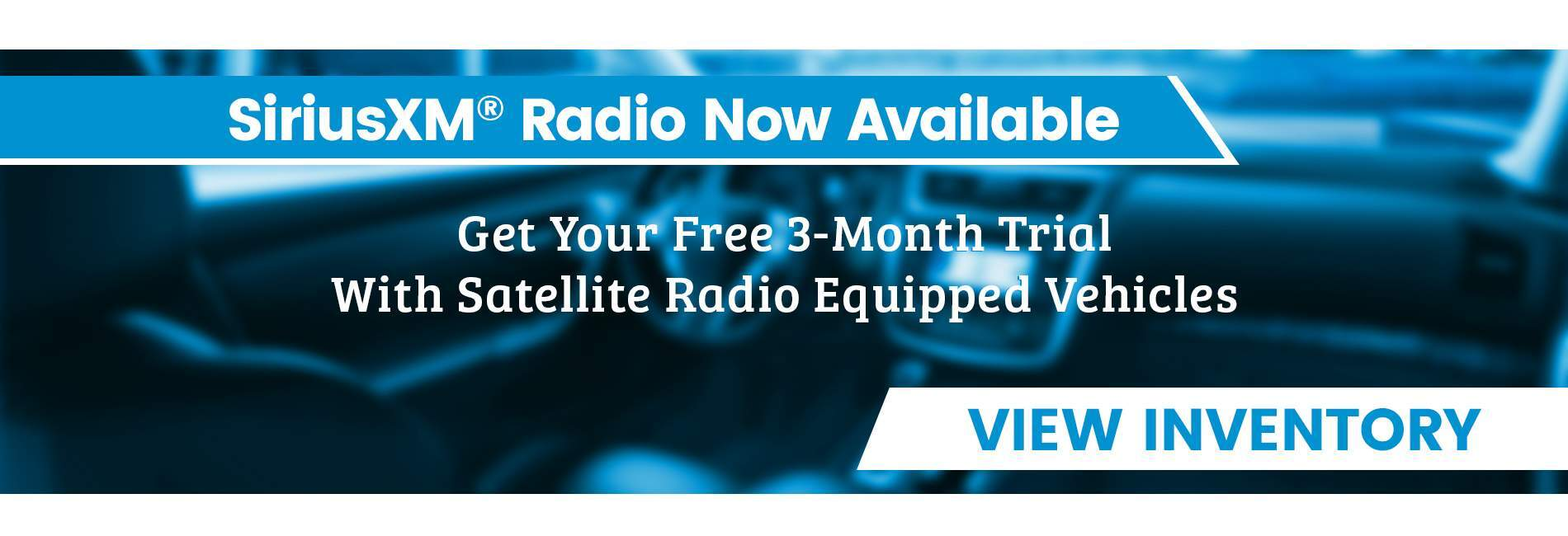 Free 3-month trial of SiriusXM® Radio when you choose Vehicles Direct in North Charleston SC