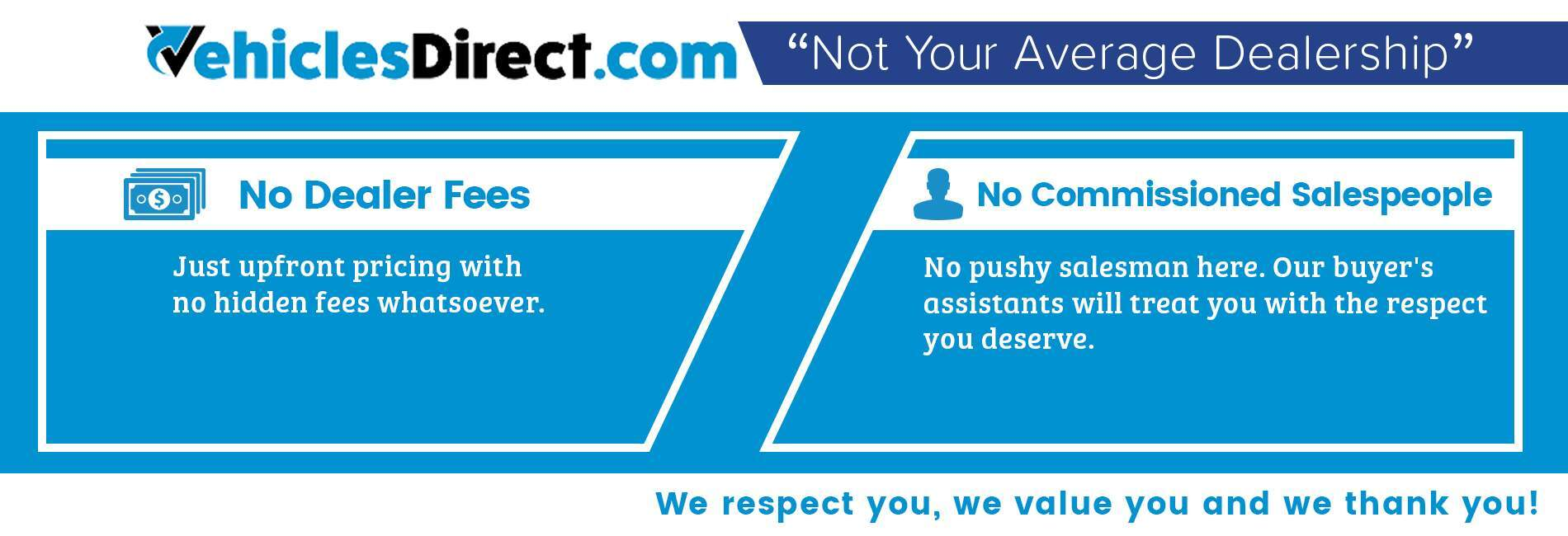 "Vehicles Direct is ""Not Your Average Dealer"" in North Charleston SC"