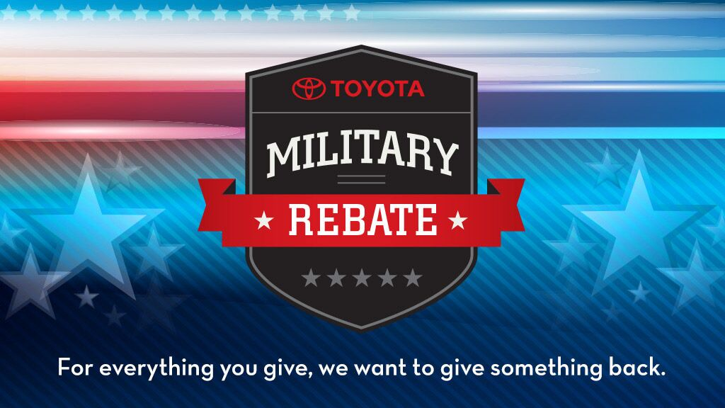 Toyota Military Rebate at Penske Toyota of Downey