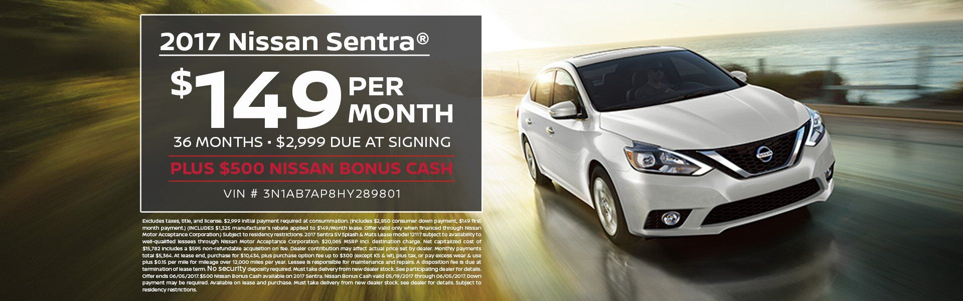 2017 Sentra Lease