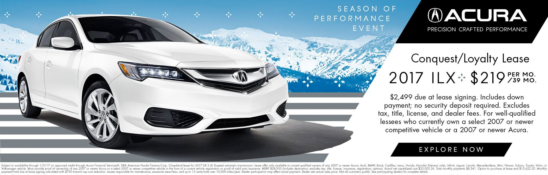 2017 ILX Conquest/Loyalty Lease 3