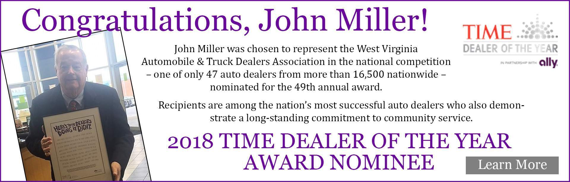 TIME Dealer of the Year Award