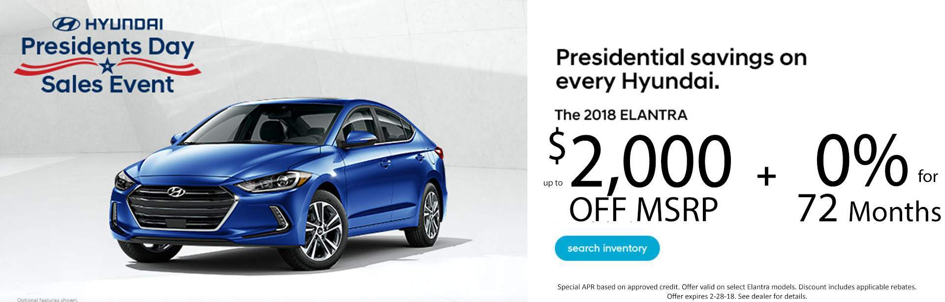Elantra Presidents Day Special