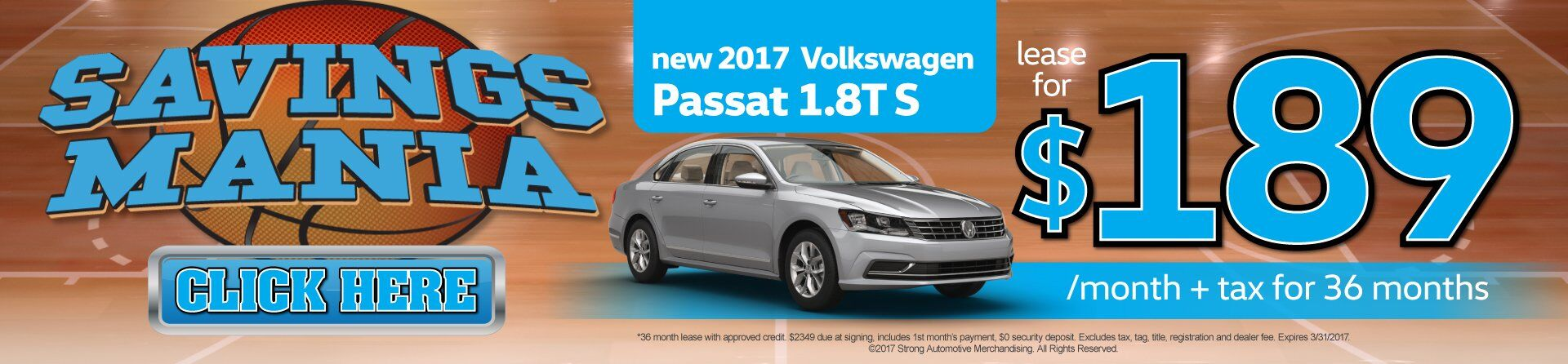 Passat Lease for $189/Mo.