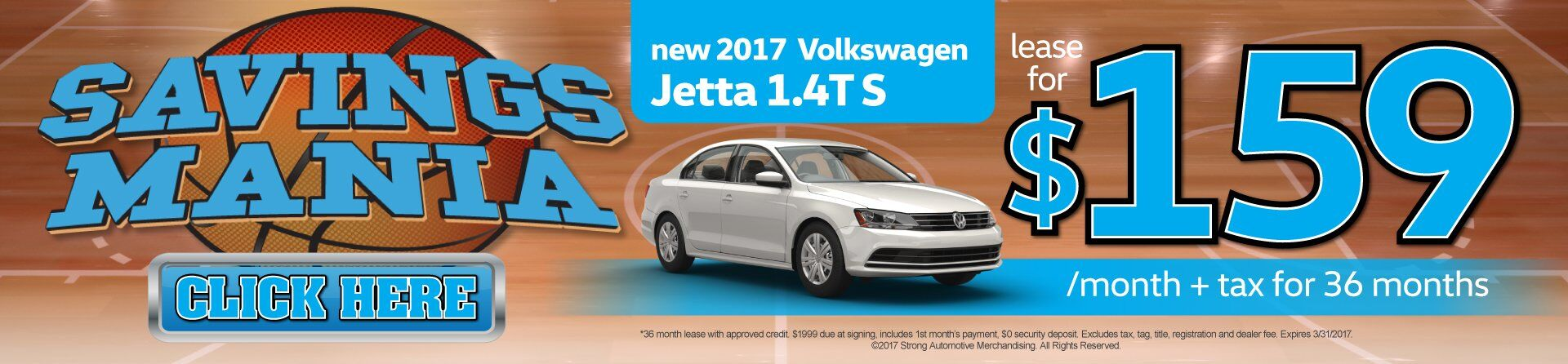 Jetta Lease for $159/Mo.