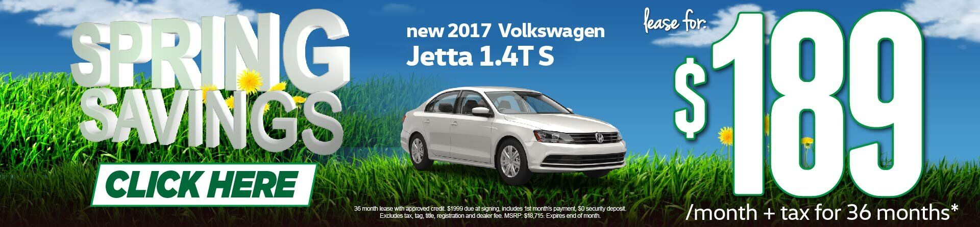 Spring Savings Jetta Lease