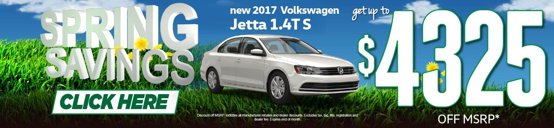 Spring Savings Jetta Price