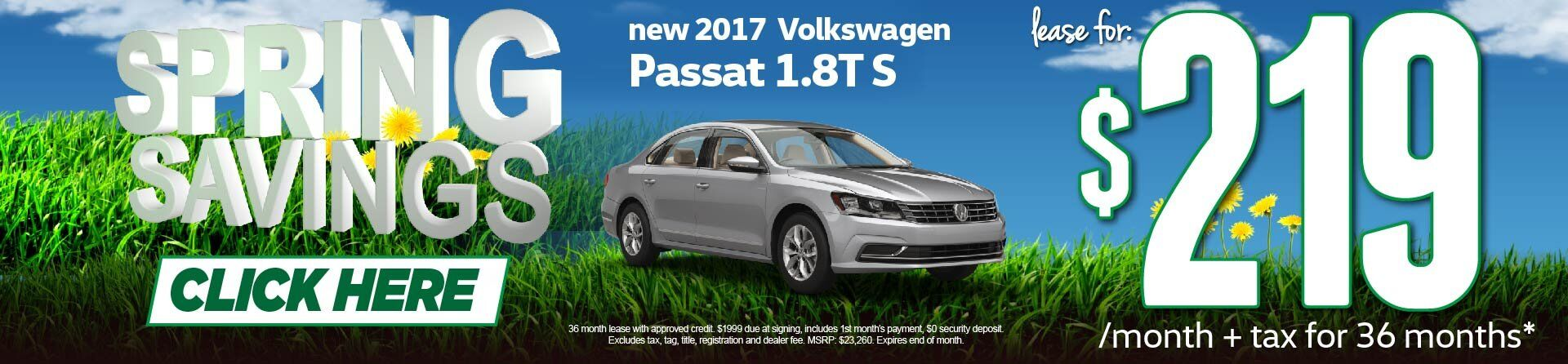 Spring Savings Passat Lease