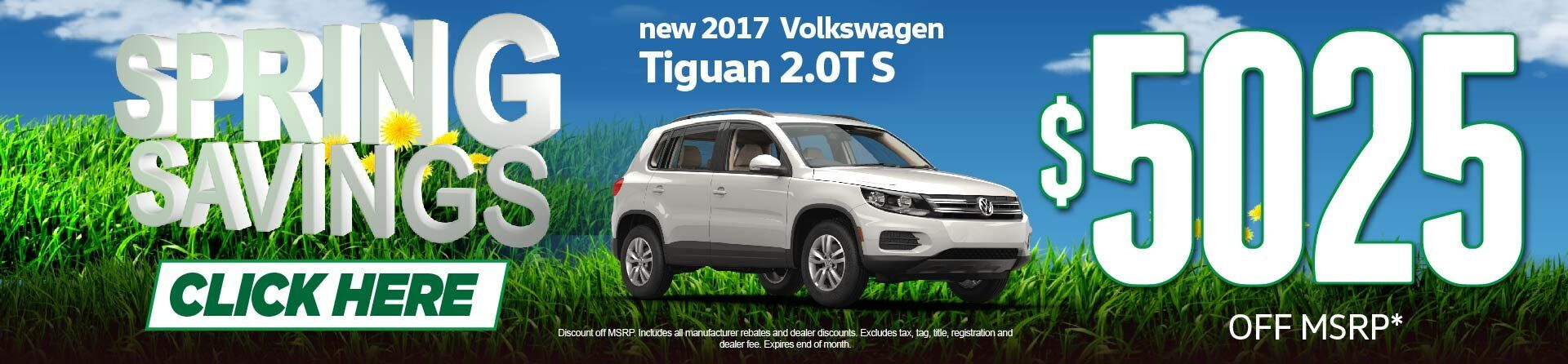 Spring Savings - Tiguan